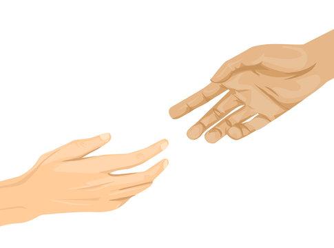Hands Help Illustration