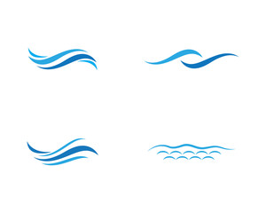 Water wave icon vector illustration