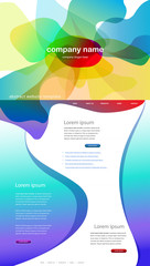 Colorful abstract website template background.