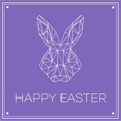 Geometric Modern Easter Bunny