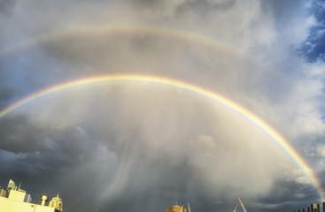 Double rainbow in the sky