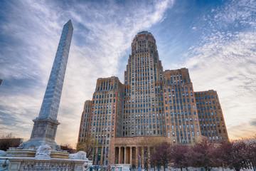 Foto op Plexiglas Buffel Buffalo City Building, New York