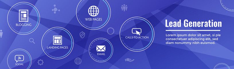 Lead Generation Web Header Banner - Attract leads for target audience to increase revenue growth and sales