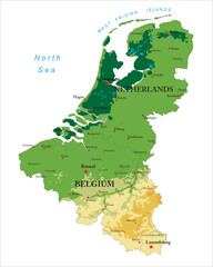Benelux physical map
