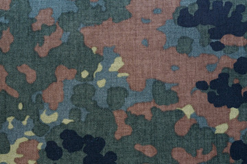 fabric background with camouflage print