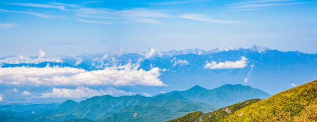 金峰山から見る南アルプスの山並み