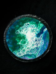 Fluid art. My little picture. A small planet.