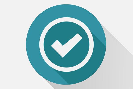 Botón azul de confirmación.