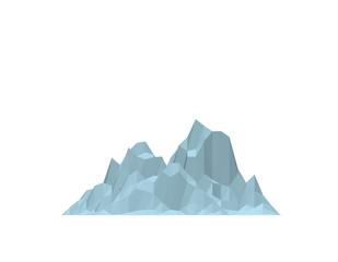 Iceberg. Isolated on white background. Vector illustration. Flat style.