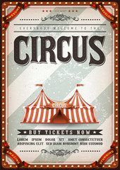 Vintage Design Circus Poster/