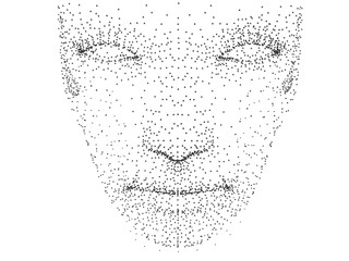 Human face with dots