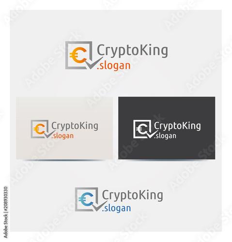 Logo Crypto Coin Argent Finance Icone Carte De Visite Et Charte Graphique Entreprise Plusieurs Couleurs