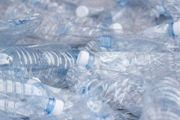 plastic bottles, Concept of recycling the Empty used plastic bottle