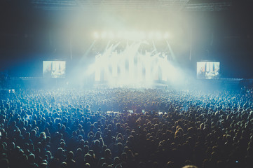 People on a concert in a big concert hall