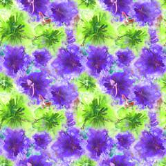 Floral Watercolor Pattern. Summer Vintage Flower Print. Modern Dress Design. Bud Repeating Wallpaper Design. Meadow Flowers Illustration. Spring Illustration for Textile. Exotic Flower. Hibiscus.