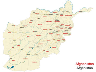 Large and detailed map of the state of Afghanistan.