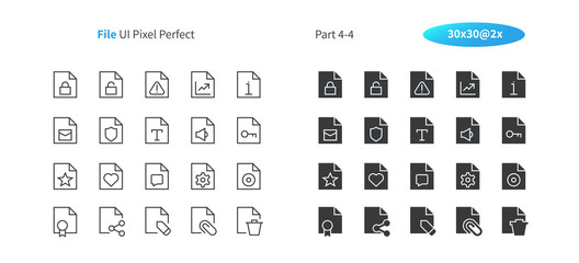 File UI Pixel Perfect Well-crafted Vector Thin Line And Solid Icons 30 2x Grid for Web Graphics and Apps. Simple Minimal Pictogram Part 4-4