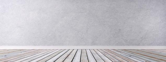 Neutrale Steinwand mit Dielenboden
