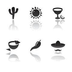 Mexico, mexican vector icon set.