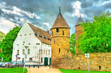 Helpoort or Hell Gate, a medieval gate in Maastricht, the Netherlands