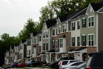 Gleiche Häuserreihe in Charlottesville