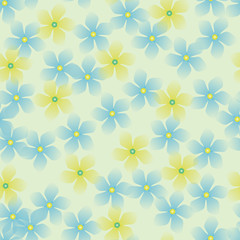 yellow blue gentle flowers
