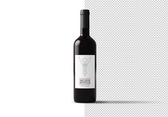 Bottle of Red Wine Mockup