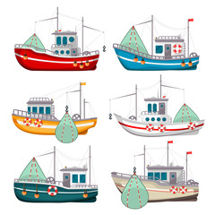 Fishing boats set