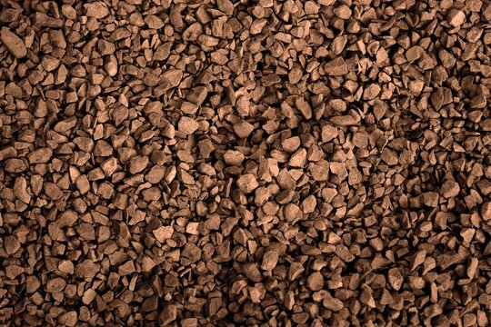 Instant coffee close-up for creating posters, banners, postcards and advertising