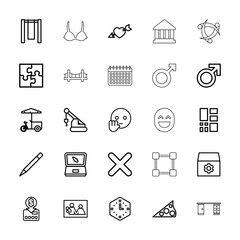 Collection of 25 concept outline icons
