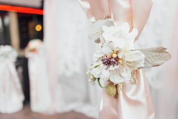 wedding decor in light colors