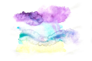 Illustration of watercolor stains.