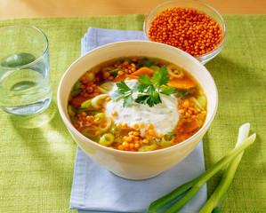 Linsen Möhren Suppe