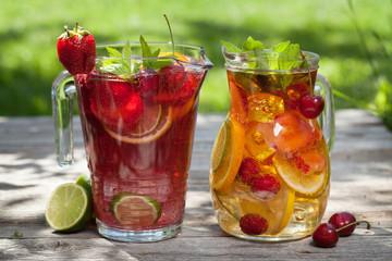 Homemade lemonade or sangria
