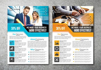 Flyer Layout with Diagonal Header