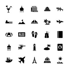 Collection of 25 tourism filled icons