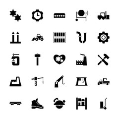 Collection of 25 industrial filled icons