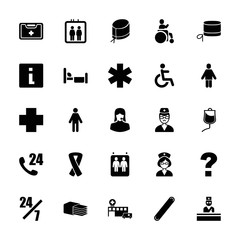 Collection of 25 help filled icons