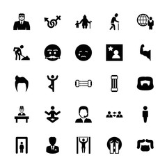 Collection of 25 man filled icons