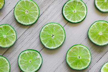 Sliced Limes on White Table