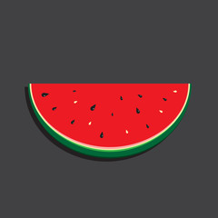 watermelon, background, vector image