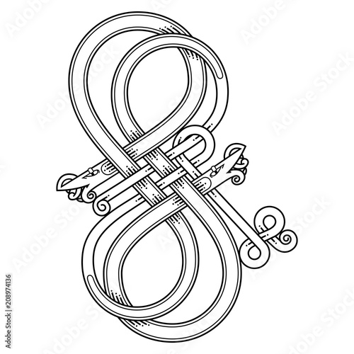 Celtic Knot Patterns With Snakes Stock Image And Royaltyfree Gorgeous Celtic Knot Patterns