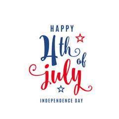 4th of July celebration holiday banner. USA Independence Day poster for greeting, sale concept design
