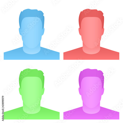 Creative vector illustration of default avatar profile