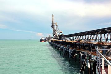 Грузовой терминал погрузки угля и причал, порты Австралии