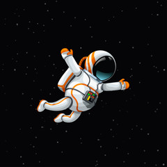 astronaut in deep space