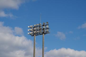 スタジアムの照明