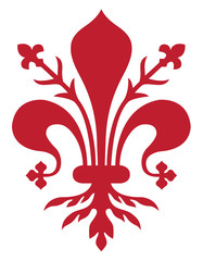 Giglio rosso simbolo di Firenze