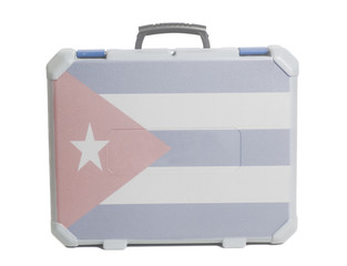 Business travel suitcase with Flag of Cuba