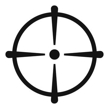 Sniper scope icon. Simple illustration of sniper scope vector icon for web design isolated on white background